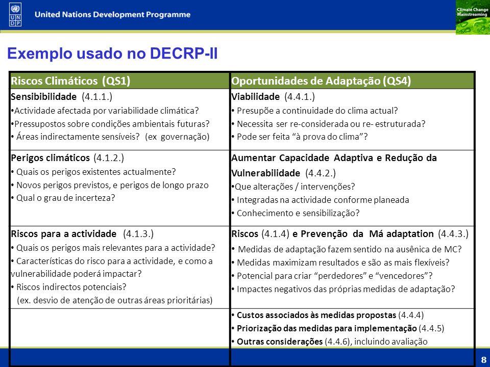 Exemplo usado no DECRP-II
