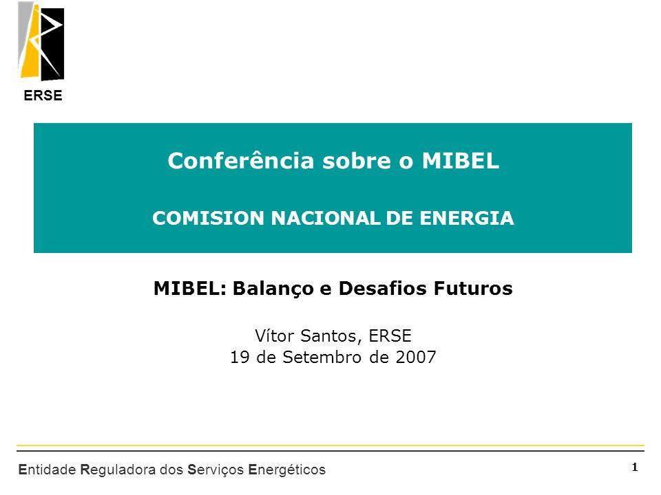 Conferência sobre o MIBEL COMISION NACIONAL DE ENERGIA