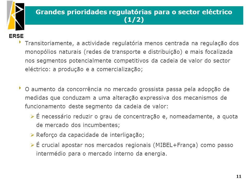 Grandes prioridades regulatórias para o sector eléctrico (1/2)