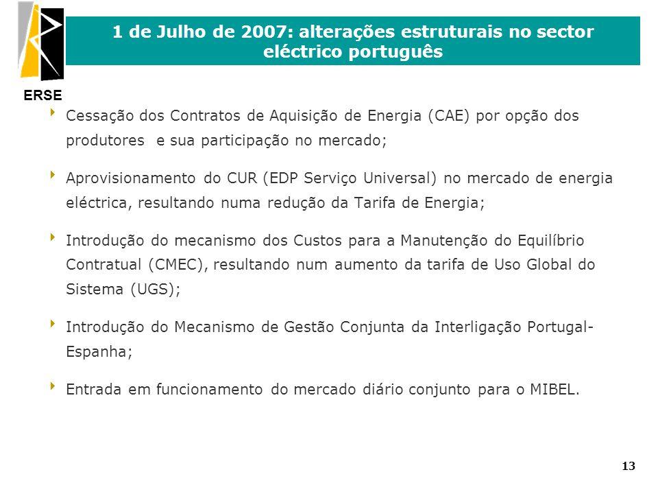 1 de Julho de 2007: alterações estruturais no sector eléctrico português