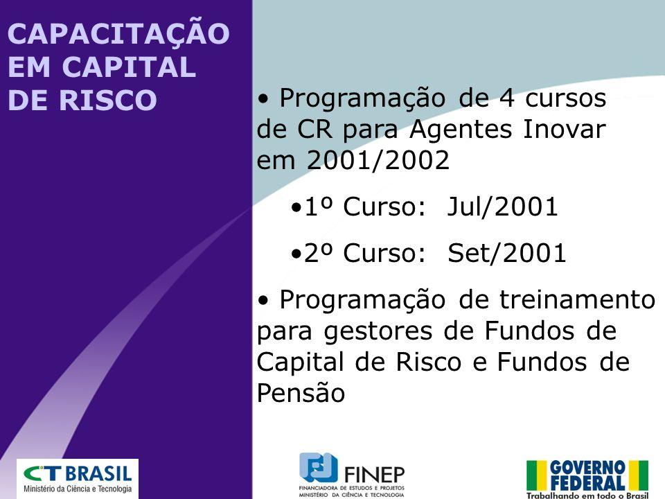 CAPACITAÇÃO EM CAPITAL DE RISCO