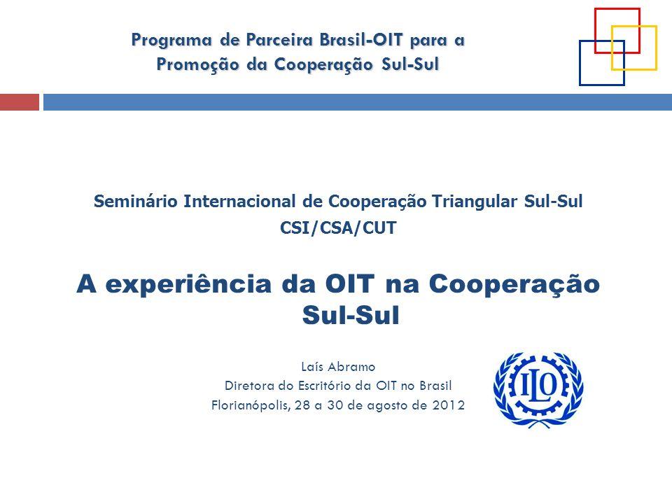 Seminário Internacional de Cooperação Triangular Sul-Sul