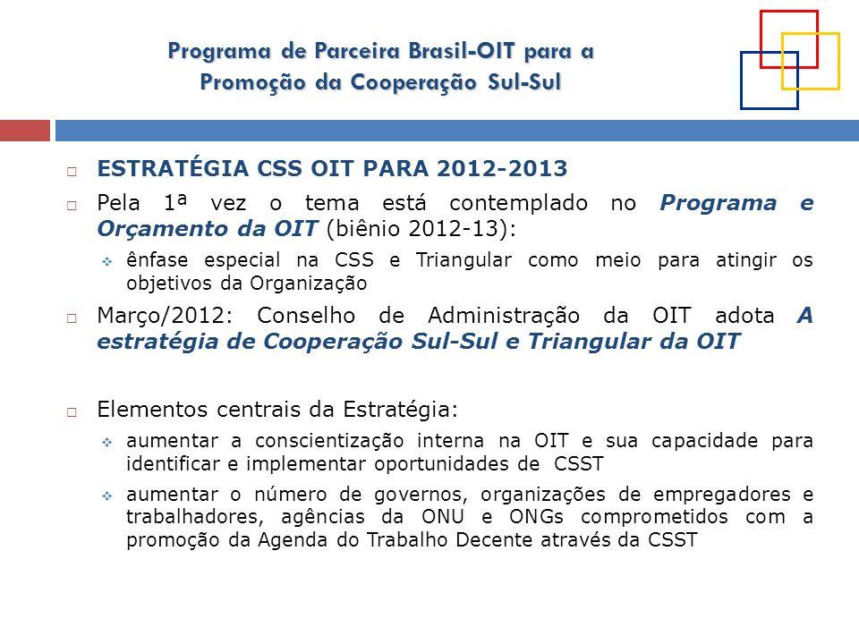 ESTRATÉGIA CSS OIT PARA 2012-2013