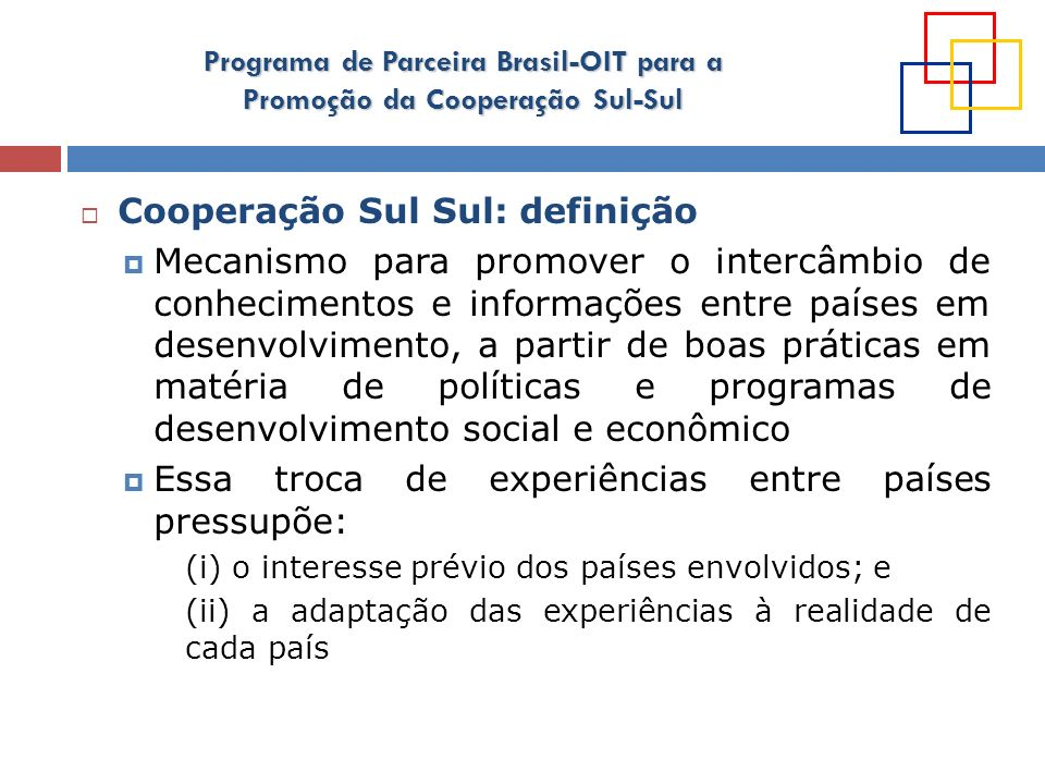Cooperação Sul Sul: definição