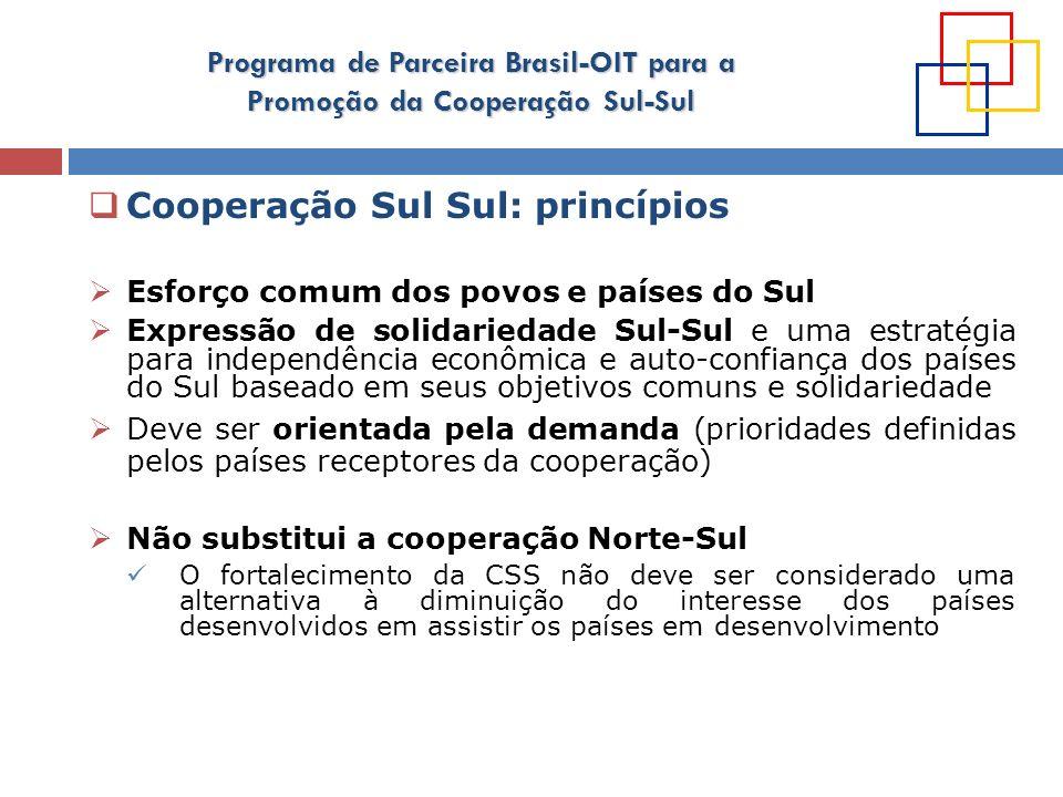 Cooperação Sul Sul: princípios