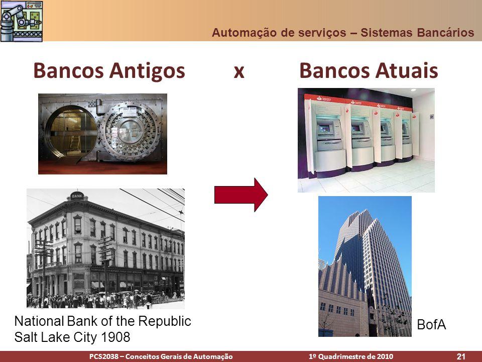 Bancos Antigos x Bancos Atuais