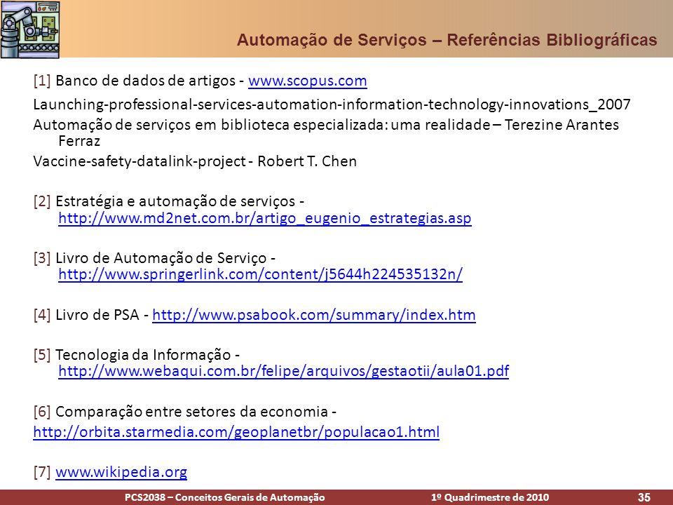 Automação de Serviços – Referências Bibliográficas