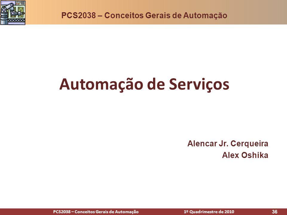 Automação de Serviços PCS2038 – Conceitos Gerais de Automação