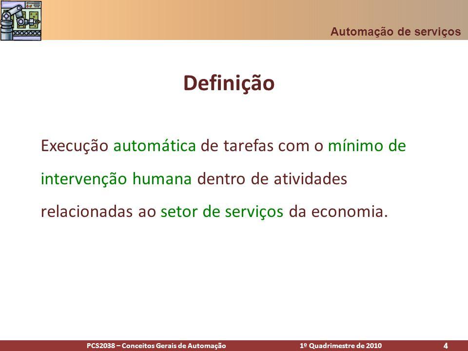 Automação de serviços Definição.