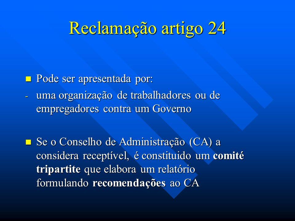 Reclamação artigo 24 Pode ser apresentada por: