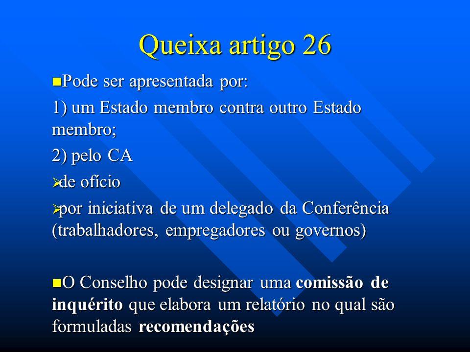 Queixa artigo 26 Pode ser apresentada por: