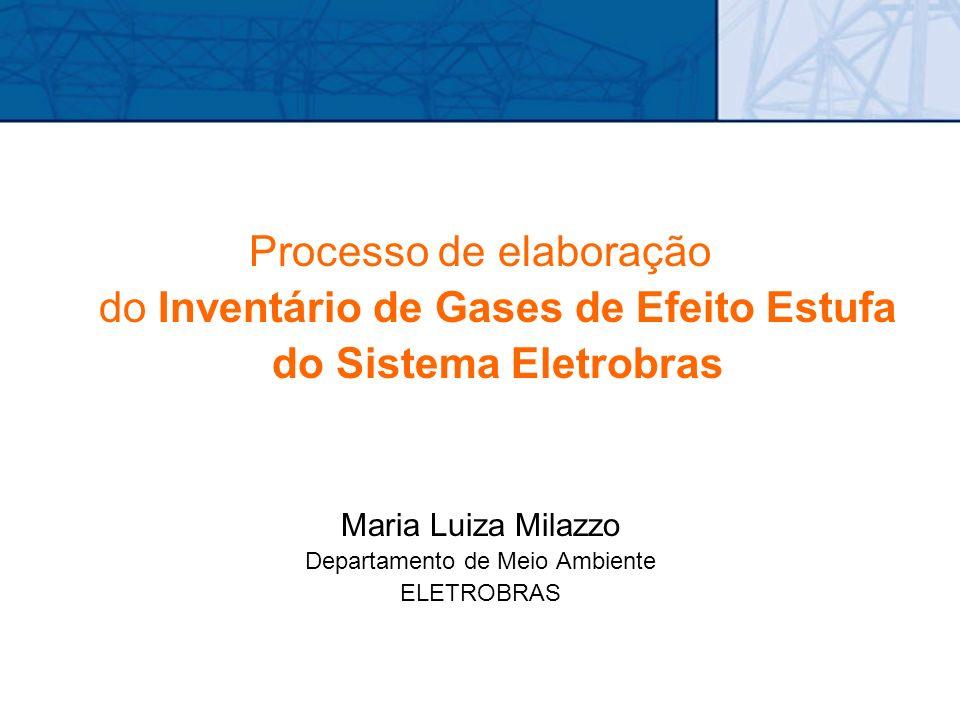 Processo de elaboração do Inventário de Gases de Efeito Estufa