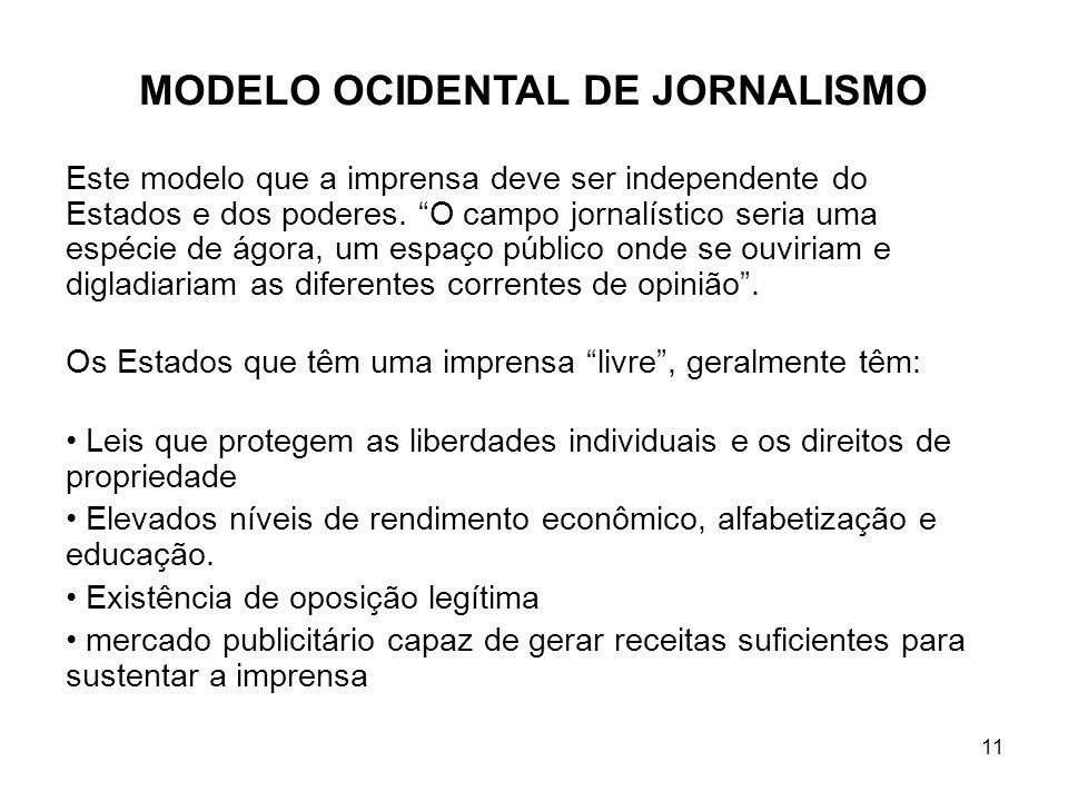 MODELO OCIDENTAL DE JORNALISMO
