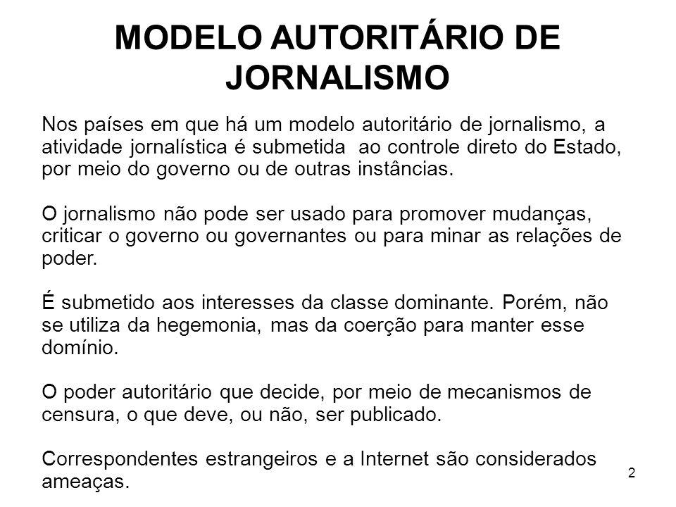 MODELO AUTORITÁRIO DE JORNALISMO