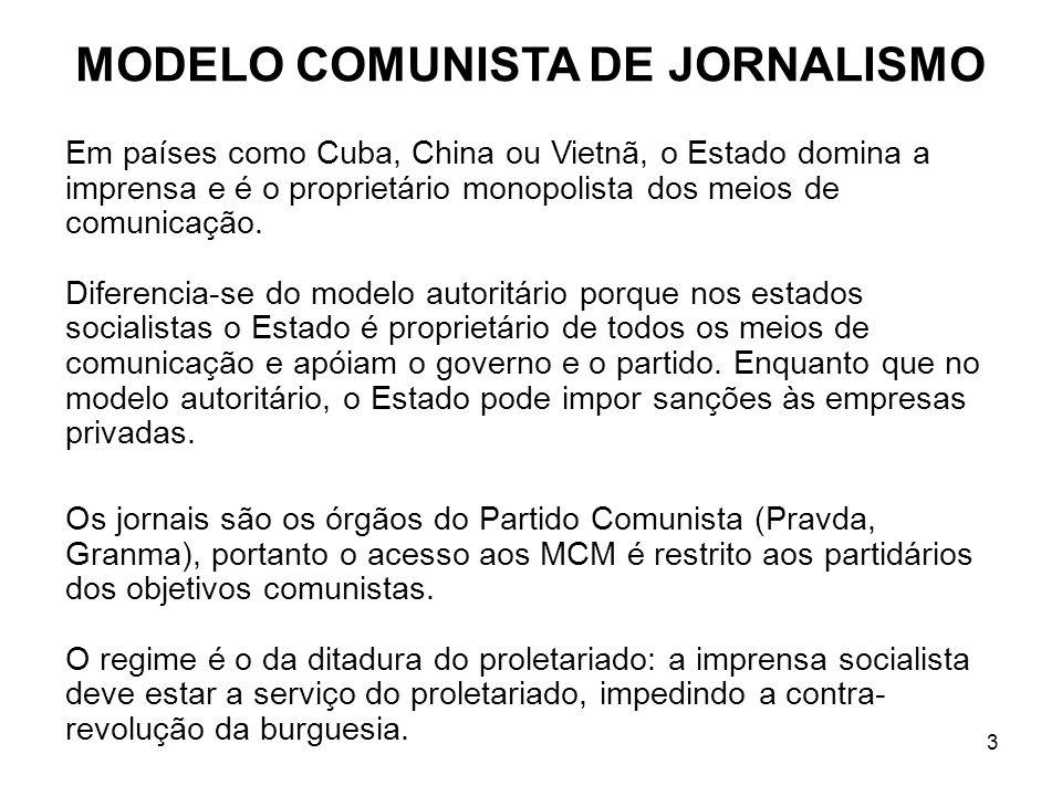MODELO COMUNISTA DE JORNALISMO