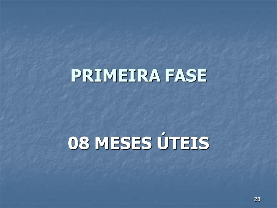 PRIMEIRA FASE 08 MESES ÚTEIS
