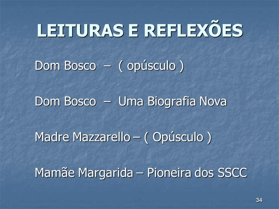 LEITURAS E REFLEXÕES Dom Bosco – ( opúsculo )