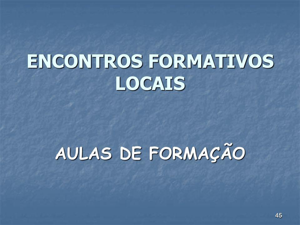 ENCONTROS FORMATIVOS LOCAIS