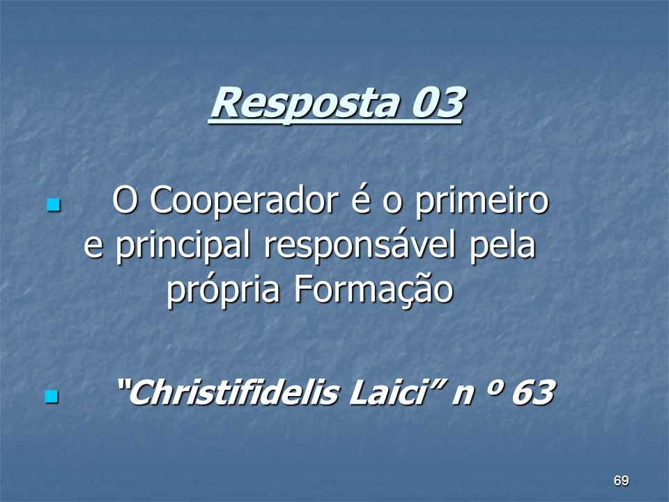Christifidelis Laici n º 63