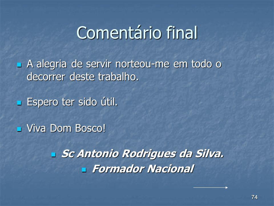 Sc Antonio Rodrigues da Silva.