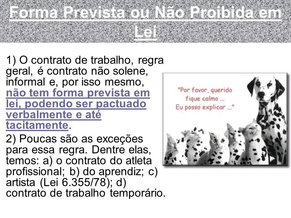 Forma Prevista ou Não Proibida em Lei