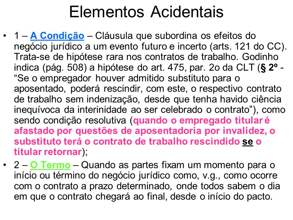 Elementos Acidentais