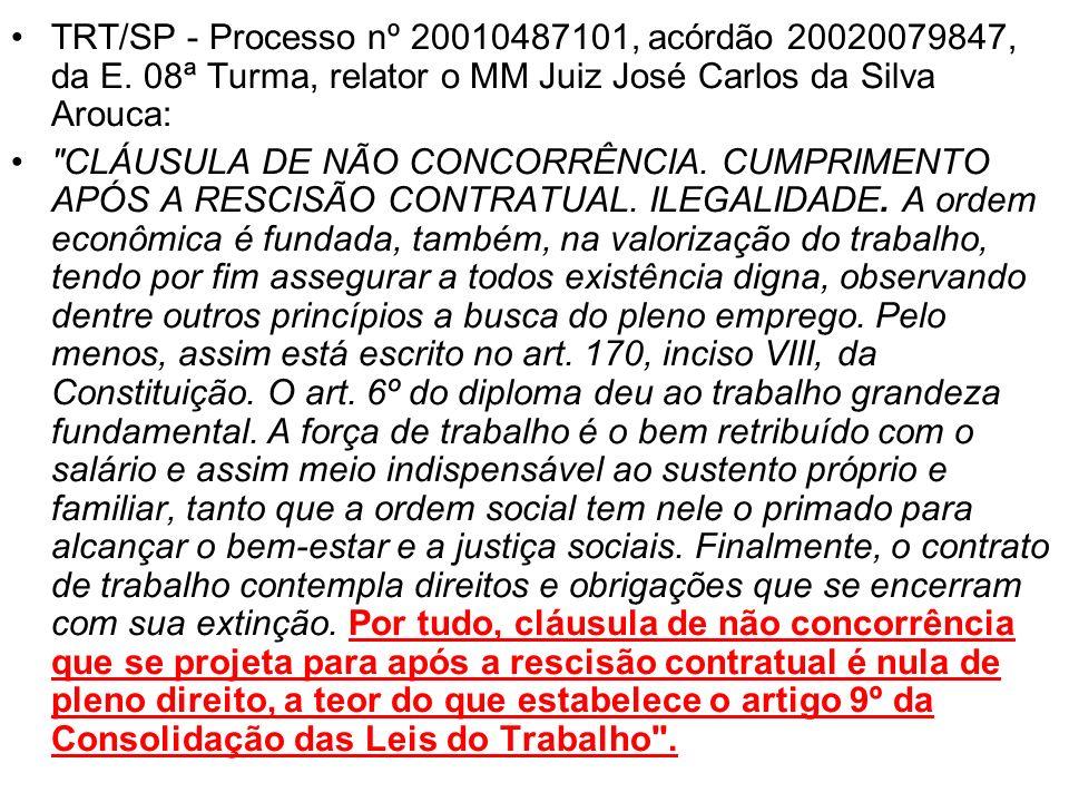 TRT/SP - Processo nº 20010487101, acórdão 20020079847, da E