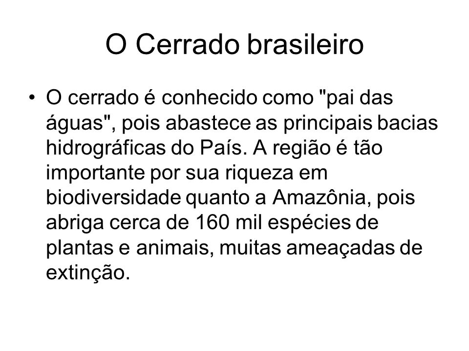 O Cerrado brasileiro