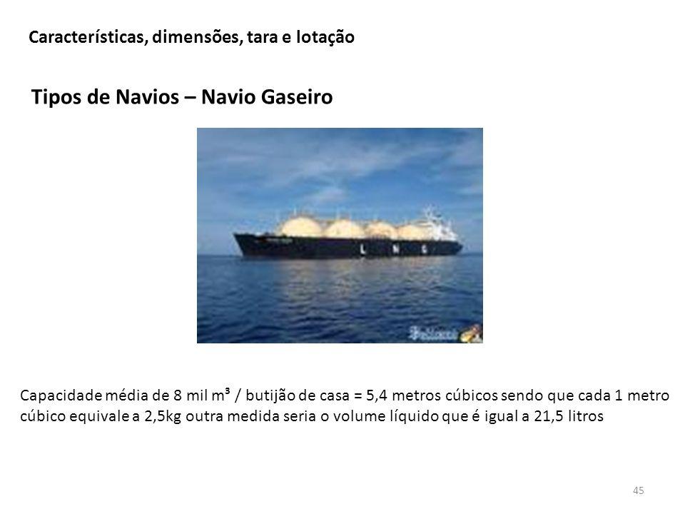 Tipos de Navios – Navio Gaseiro