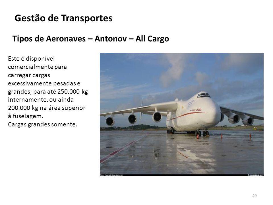 Gestão de Transportes Tipos de Aeronaves – Antonov – All Cargo
