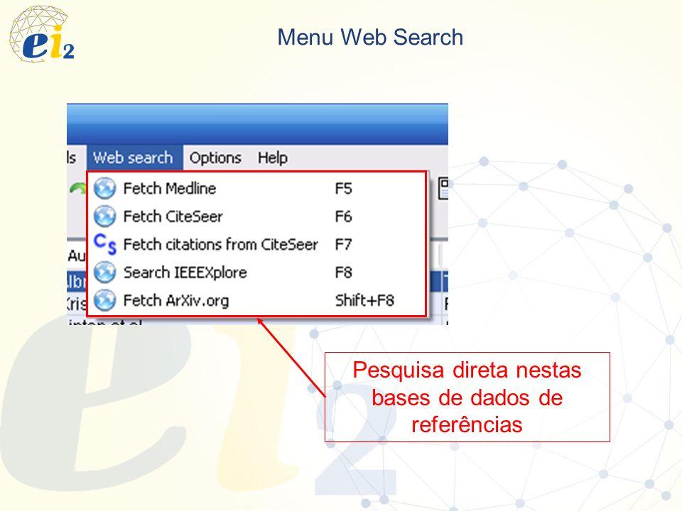 Pesquisa direta nestas bases de dados de referências