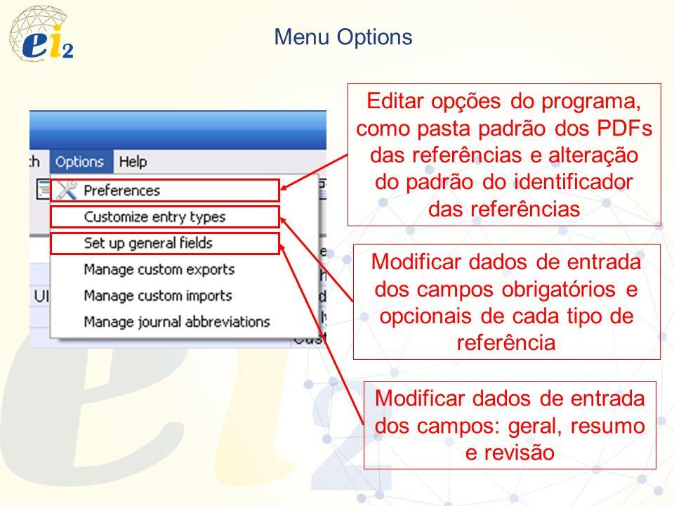Modificar dados de entrada dos campos: geral, resumo e revisão
