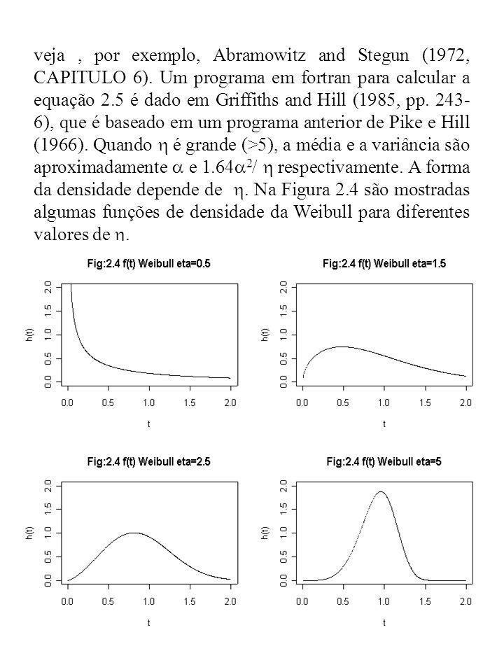 veja , por exemplo, Abramowitz and Stegun (1972, CAPITULO 6)