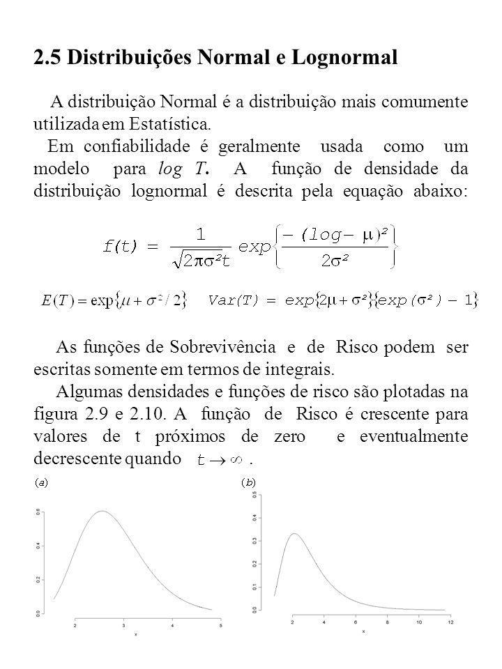 2.5 Distribuições Normal e Lognormal