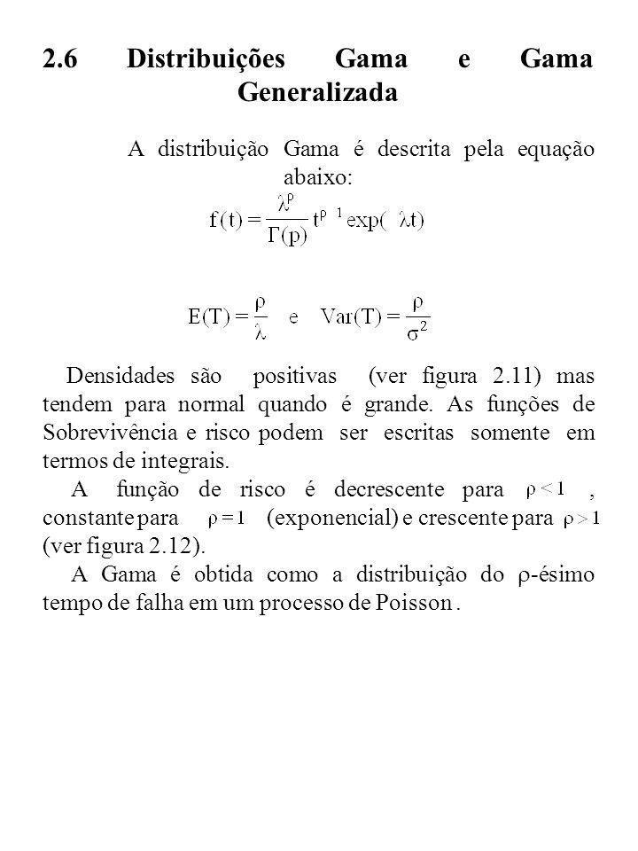 2. 6 Distribuições Gama e Gama Generalizada