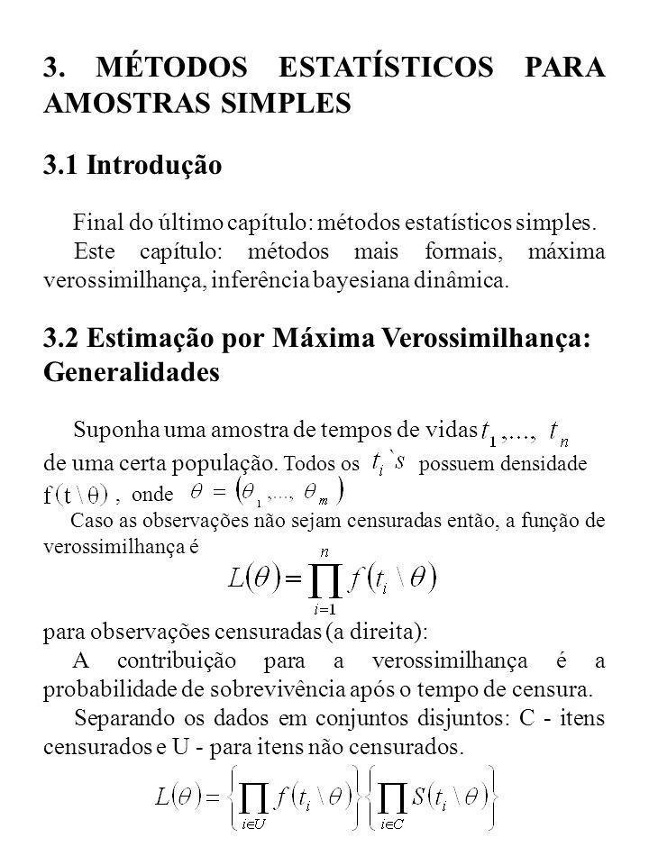 3. MÉTODOS ESTATÍSTICOS PARA AMOSTRAS SIMPLES