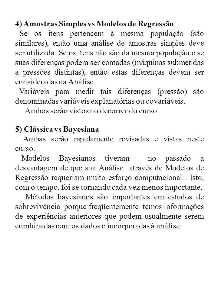4) Amostras Simples vs Modelos de Regressão