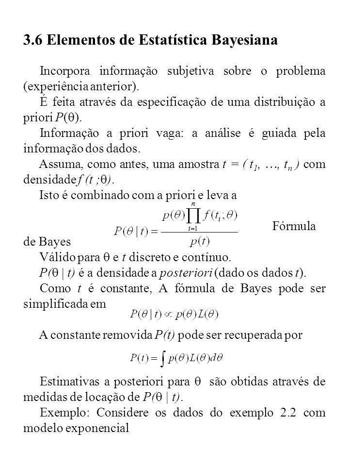 3.6 Elementos de Estatística Bayesiana