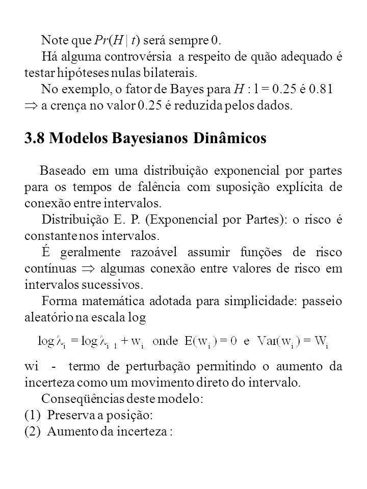 3.8 Modelos Bayesianos Dinâmicos