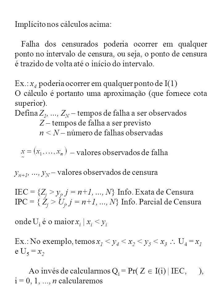 Implícito nos cálculos acima: