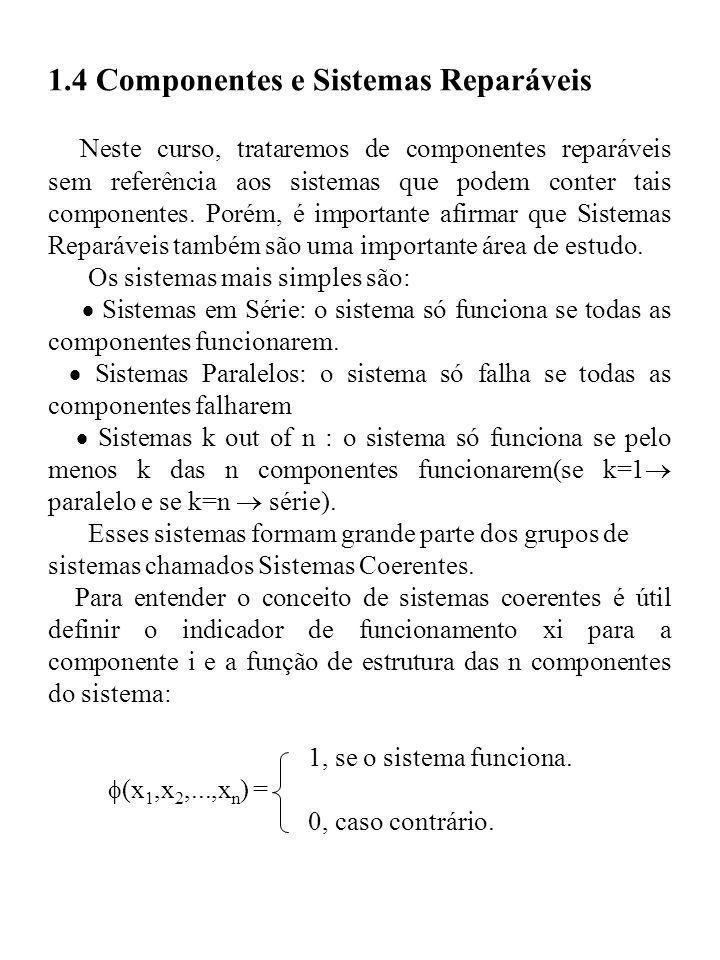 1.4 Componentes e Sistemas Reparáveis