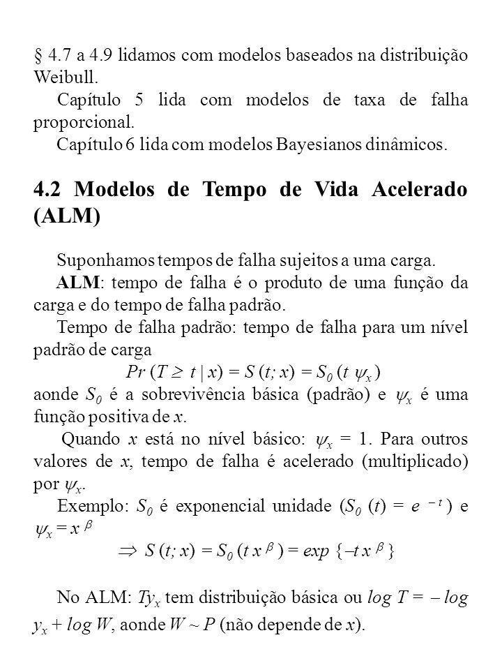 4.2 Modelos de Tempo de Vida Acelerado (ALM)