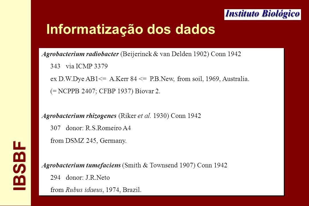 Informatização dos dados