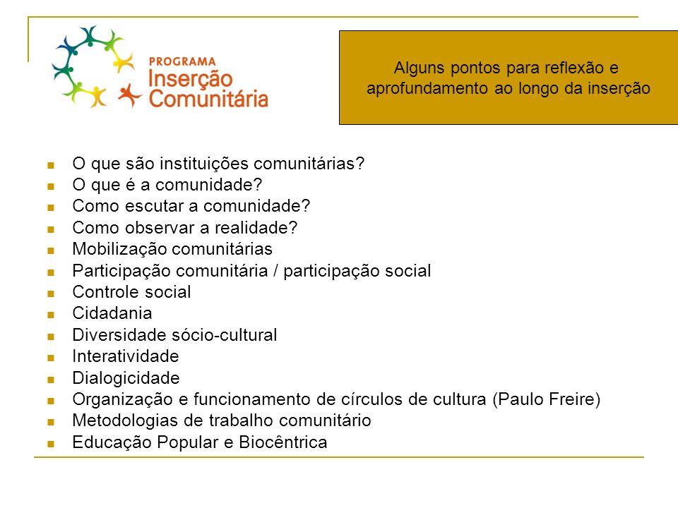 O que são instituições comunitárias O que é a comunidade