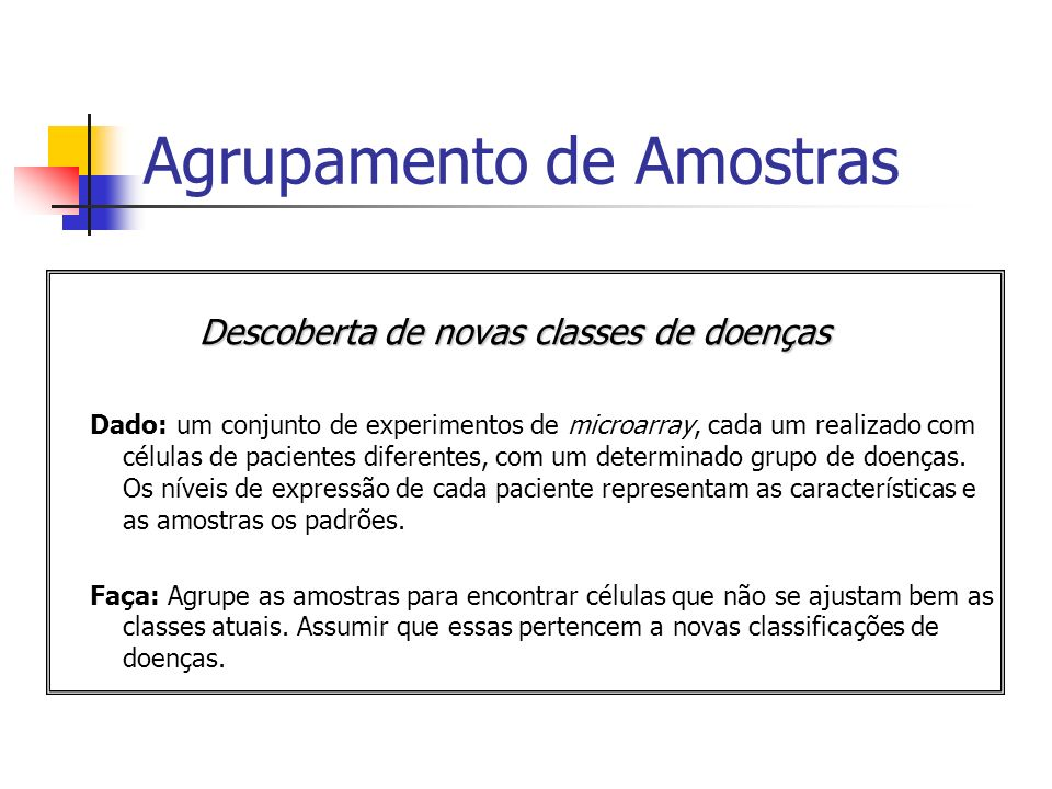 Agrupamento de Amostras