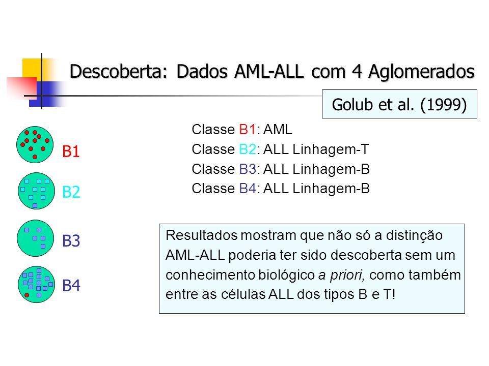 Descoberta: Dados AML-ALL com 4 Aglomerados