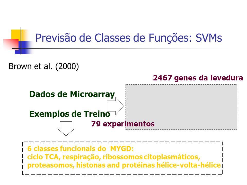 Previsão de Classes de Funções: SVMs