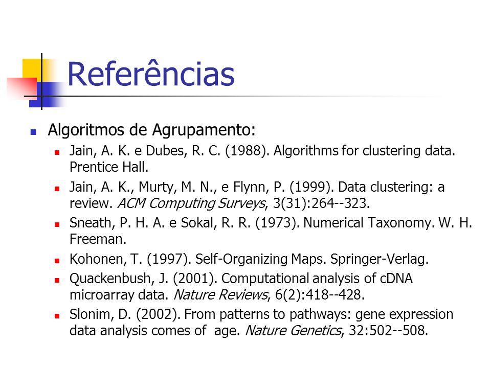 Referências Algoritmos de Agrupamento: