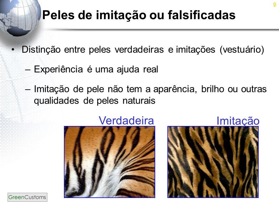 Peles de imitação ou falsificadas