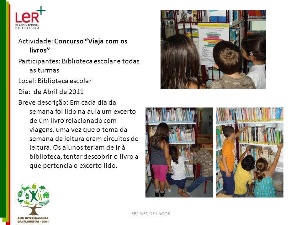 Actividade: Concurso Viaja com os livros